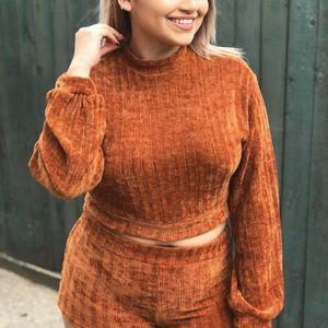 Knit sweater set